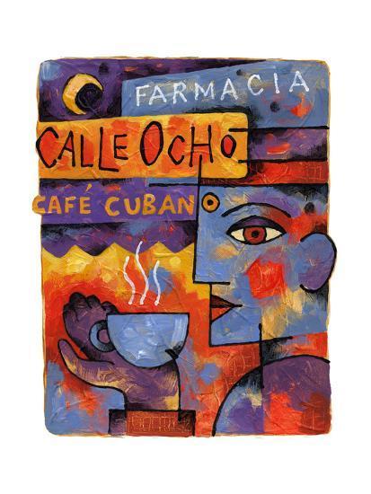 Cafe Cubano-Jim Dryden-Giclee Print
