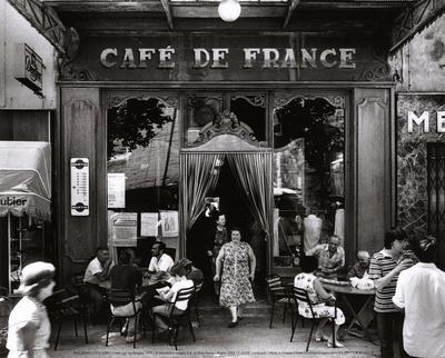 Café de France-Willy Ronis-Art Print