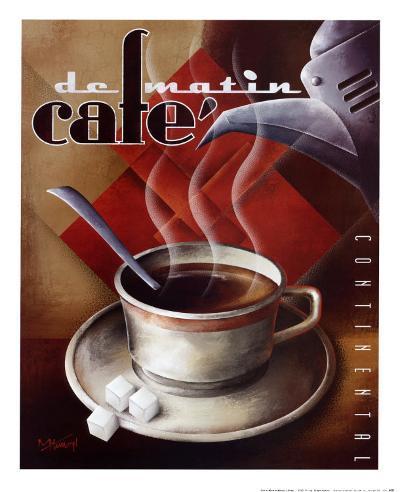 Cafe de Matin-Michael L^ Kungl-Art Print