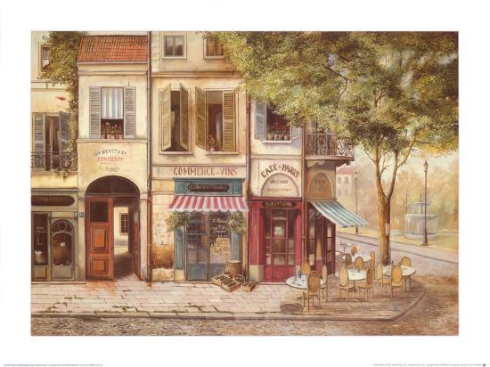 Cafe de Paris Art Print by Fabrice De Villeneuve | the NEW Art.com