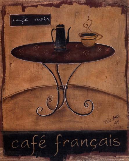 Cafe Francais-Kim Klassen-Art Print
