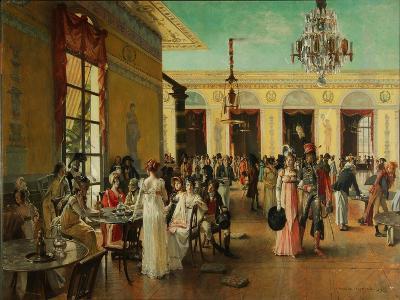 Café Frascati, 1893-François Flameng-Giclee Print