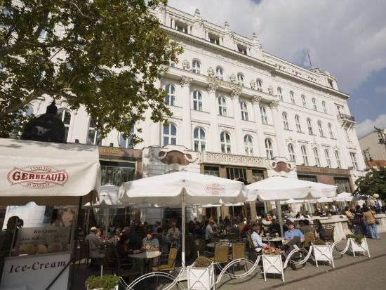 Cafe Gerbeaud, Budapest, Hungary, Europe-Jean Brooks-Photographic Print