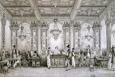 Cafe in Paris, 1830, France--Giclee Print