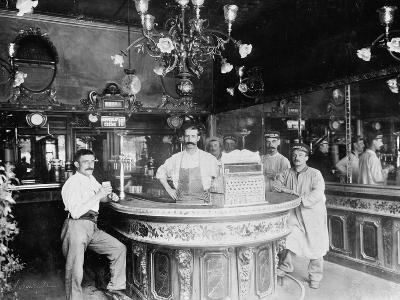 Cafe in Paris, C.1910--Photographic Print