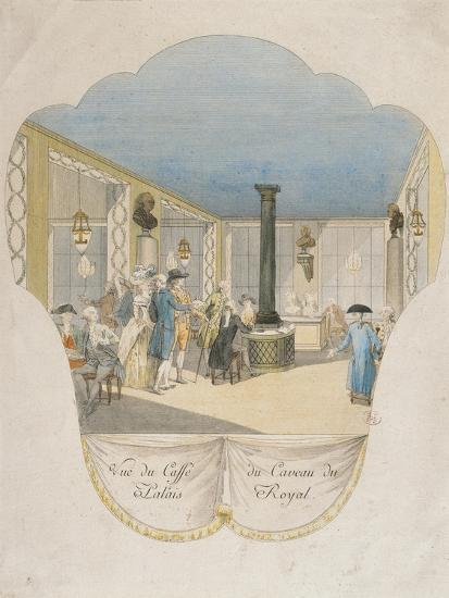 Cafe Interior at Palais Royal in Paris--Giclee Print