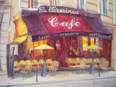 Cafe Le Terminus, 2010-Antonia Myatt-Giclee Print