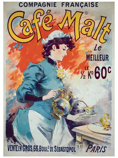 Cafe Malt-Lucien Lefevre-Giclee Print