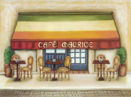 Cafe Maurice-Urpina-Art Print
