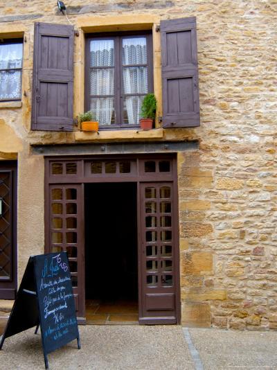 Cafe Menu, Olingt, Burgundy, France-Lisa S^ Engelbrecht-Photographic Print