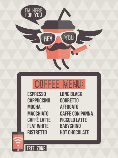 Cafe Menu. Seamless Background And Design Elements-ussr-Art Print