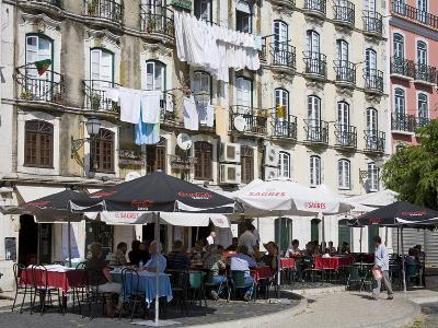 Cafe on Bacalhoeiros Street in the Alfama District, Lisbon, Portugal, Europe-Richard Cummins-Photographic Print
