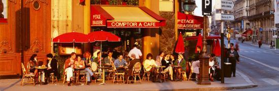 Cafe, Paris, France--Photographic Print