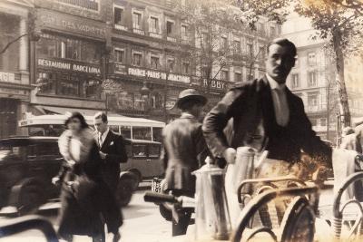 Café Passage, Paris, 1930--Photographic Print