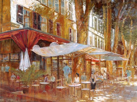 Cafe Primavera-Michael Longo-Art Print
