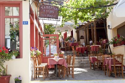 Cafe, Restaurant, Taverna, Plaka, Athens, Greece-Peter Adams-Photographic Print