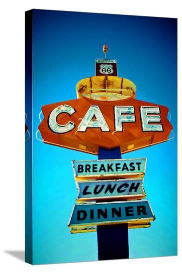 Cafe Route 66--Stretched Canvas Print