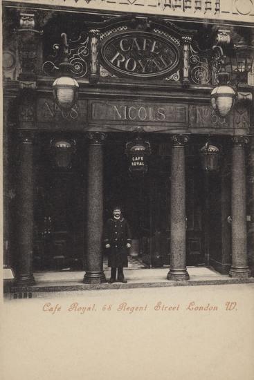 Cafe Royal, 68, Regent Street, London, West--Photographic Print
