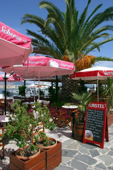 Cafe, Sami, Kefalonia, Greece-Peter Thompson-Photographic Print