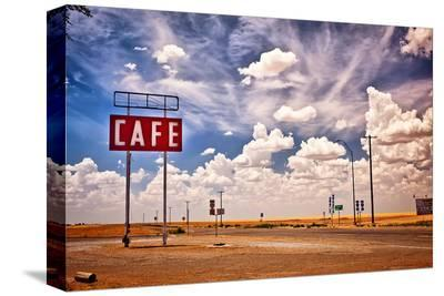 Cafe Sign Route 66 In Texas--Stretched Canvas Print