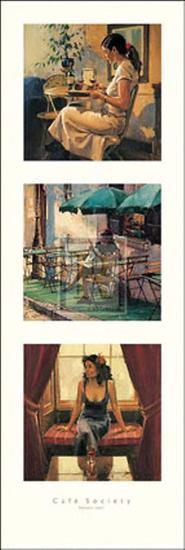 Cafe Society II-Raymond Leech-Art Print