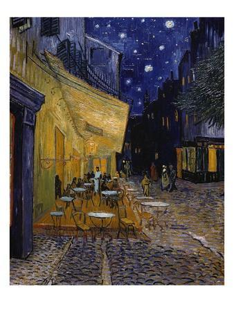 Cafe Terrace at Night-Vincent van Gogh-Giclee Print