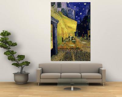 Cafe Terrace, Place Du Forum, Arles, 1888-Vincent van Gogh-Wall Mural