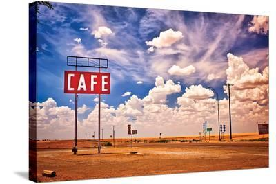 Cafe US 66 HDR--Stretched Canvas Print