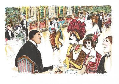 Cafe with Tango Dancers-Edward Plunkett-Collectable Print