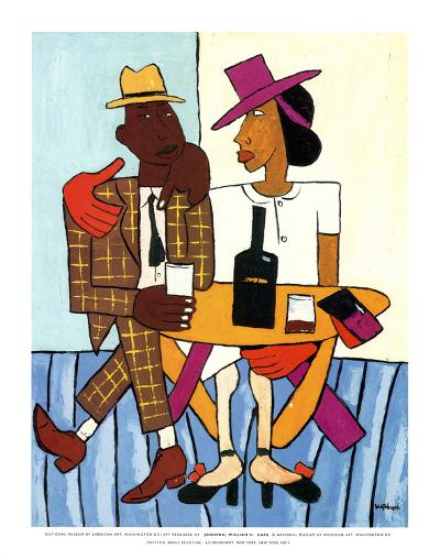 Cafe-William H^ Johnson-Art Print