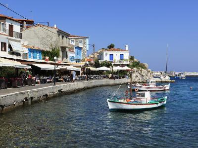 Cafes on Harbour, Kokkari, Samos, Aegean Islands, Greece-Stuart Black-Photographic Print