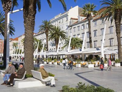 Cafes on the Riva in Split, Croatia, Europe-Richard Cummins-Photographic Print