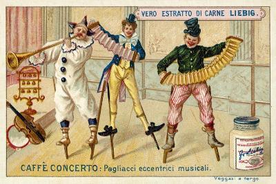 Caffe-Concerto: Eccentric Musical Clowns--Giclee Print