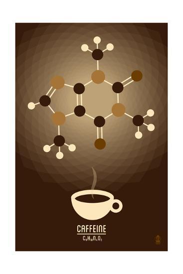 Caffeine - Chemical Elements-Lantern Press-Art Print