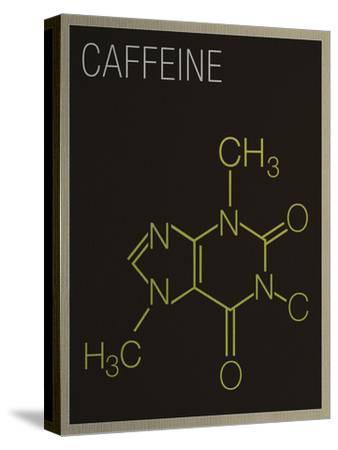 Caffeine Molecule Art Print Poster