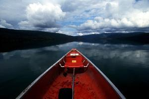A Scenic Alaska Landscape Seen from the The Front of a Canoe by Cagan Sekercioglu