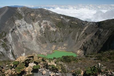 A View into a Volcano in Volcan Poas National Park, Costa Rica by Cagan Sekercioglu