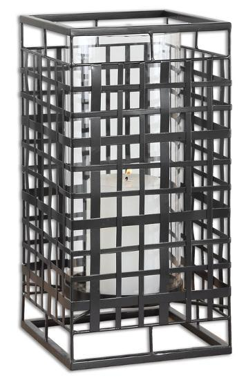 Caged In Metal Candleholder--Home Accessories