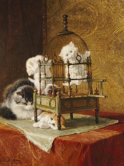 Caged Kittens-Henriette Ronner-Knip-Giclee Print