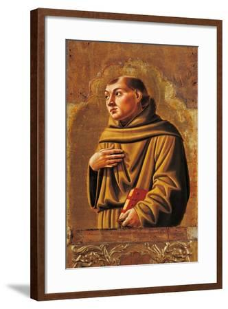 Cagli Polyptych, St. Anthony of Padua-l'Alunno di Liberatore-Framed Art Print