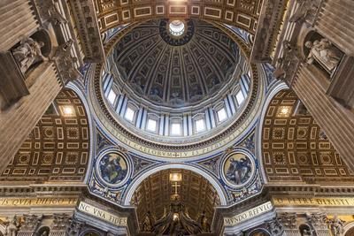 Architectural Detail of the Interior of St. Peter's Basilica, Vatican City, the Vatican.