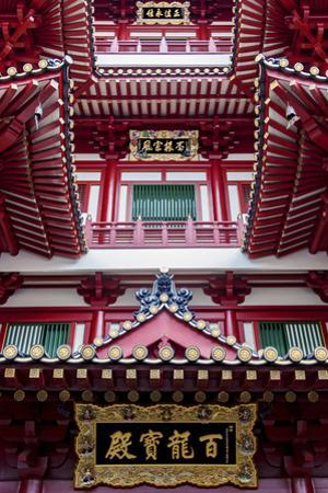Architectural Roof Detail of the Buddha Tooth Relic Temple and Museum, South Bridge Road