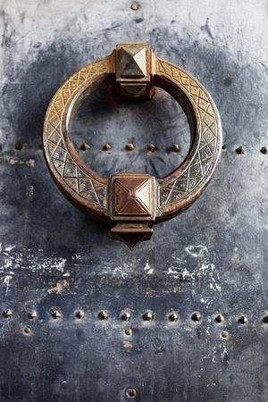 Door Knocker Detail of Door Located in the Castel Sant Angelo, Ponte, Rome, Lazio, Italy.
