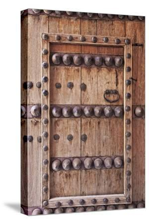 Ornate Door Detail of Jabrin Fort, Jabrin, Nizwa, Ad Dakhiliyah Governorate, Oman.