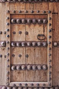 Ornate Door Detail of Jabrin Fort, Jabrin, Nizwa, Ad Dakhiliyah Governorate, Oman. by Cahir Davitt