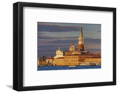 San Giorgio Maggiore at Sunset Viewed from Giudecca, Venice, Veneto, Italy.