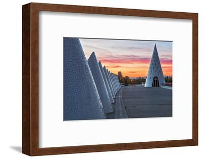 Sunset View of Umbracle Adjacent to El Palau De Les Arts Reina Sofia, City of Arts and Sciences