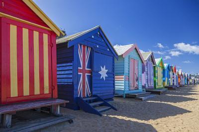 The Colourful Brighton Bathing Boxes Located on Middle Brighton Beach, Brighton, Melbourne
