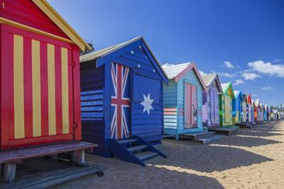 The Colourful Brighton Bathing Boxes Located on Middle Brighton Beach, Brighton, Melbourne by Cahir Davitt