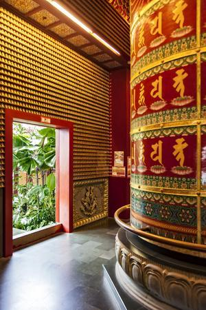 The Vairocana Bhudda Prayer Wheel Detail in Buddha Tooth Relic Temple and Museum, South Bridge Road
